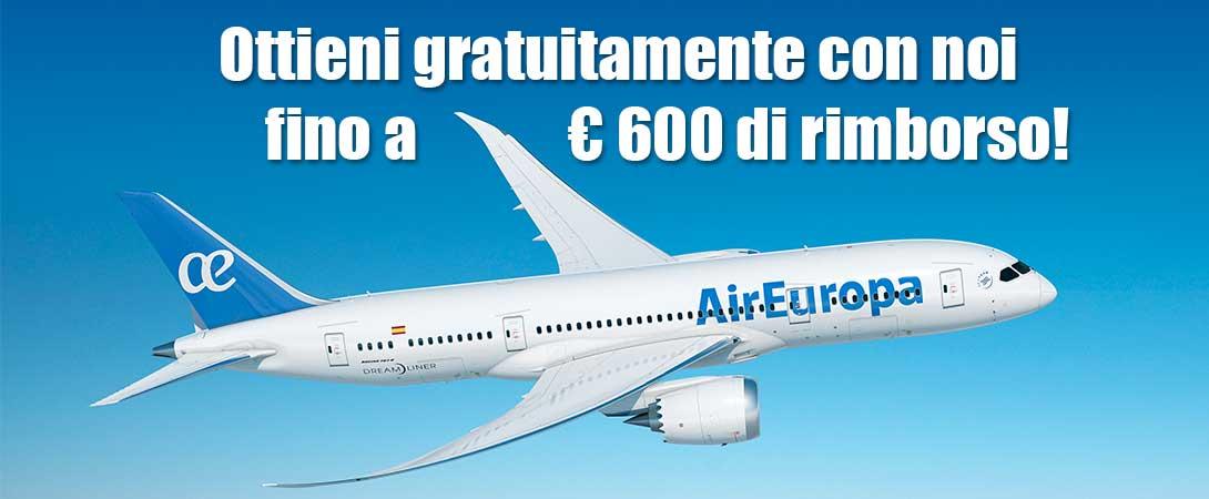 Rimborso ritardo volo Air Europa