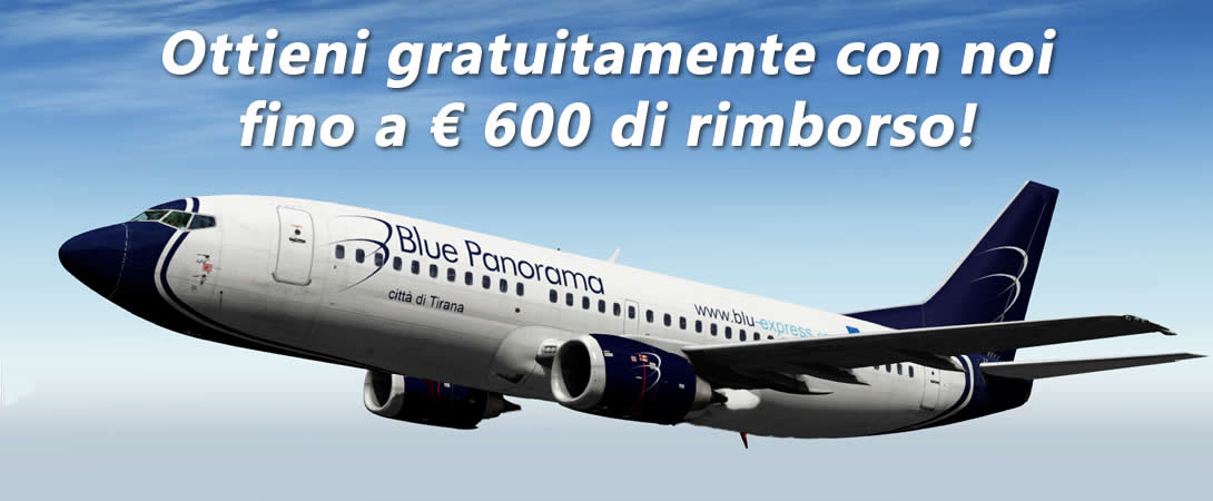 Rimborso Ritardo Volo Blue Panorama